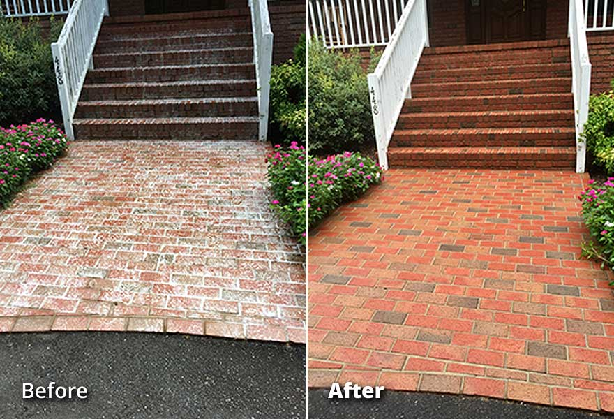 Brick Pavers Pressure Washing