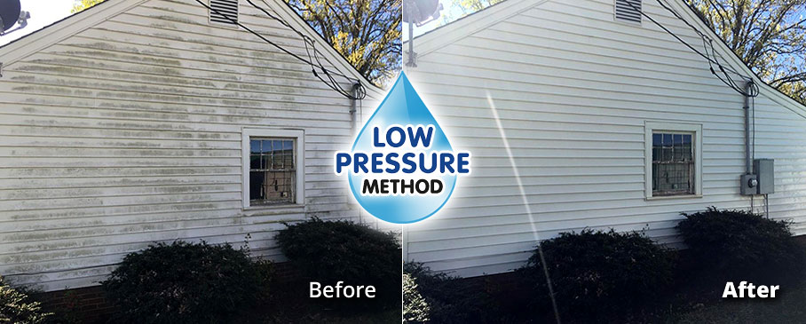 Low Pressure House Siding Washing